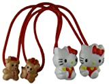 Hello Kitty Hair Elastic Ponytails Assorted Colors