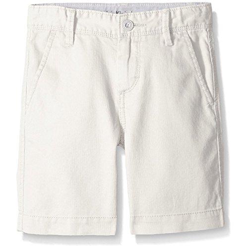 Calvin Klein Kids Boys 8-20 Woven Short (10, White)
