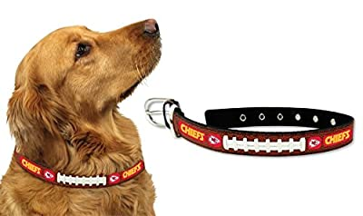 Kansas City Chiefs Official NFL Large Pet Dog Collar by Gamewear