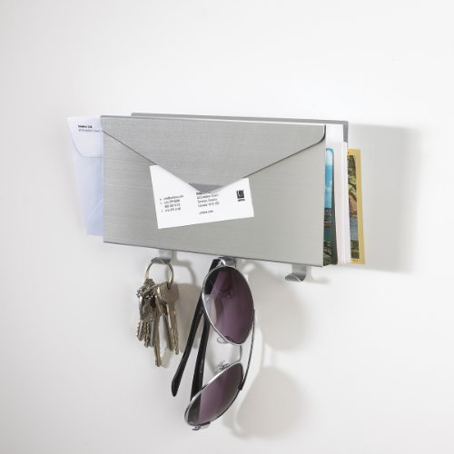 Umbra 318380 008 lettro organizer porta posta e for Appendichiavi da muro