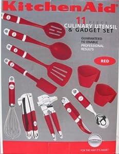 Amazon.com: KitchenAid 11 Piece Red Utensil Set: Kitchen