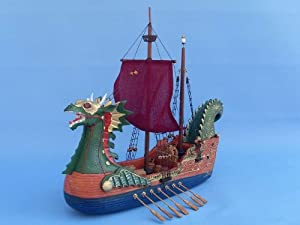 """Dawn Treader 16"""" - Wood Boat Model - Voyage Of The Dawn Treader - CS Lewis - Narnia - Famous Ship Model - Unique Nautical Gift - Wooden Ship Model - Sold Fully Assembled - Not a Model Ship Kit"""