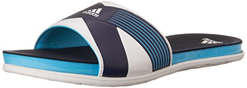 Adidas Performance Women's Supercloud Plus Slide W Athletic Sandal,Bright Cyan Blue/White/Collegiate Navy,9 M US