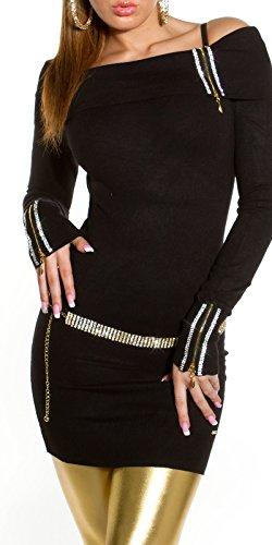 Longpulli mit Carmen-Ausschnitt und Zips