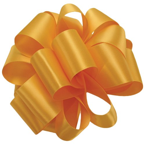 Offray Double Face Satin Craft Ribbon, 7/8-Inch Wide by 20-Yard Spool, Yellow Gold
