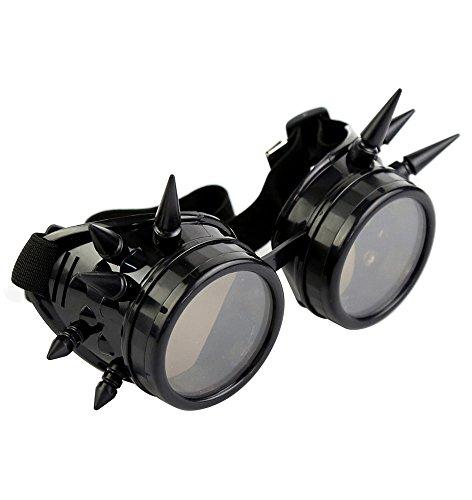 Miltec-Occhiali goggles, con picchi cyber post apocalyptique