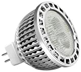 YYC YYCPA031WW GU5.3 3.5 Watt/ 280 Lumens LED Spot Light, Silver Clear/ Warm White