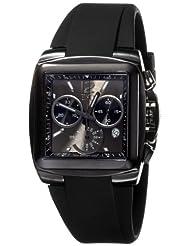 ESQ by Movado Men's 07301370 Bracer Black Rubber Strap Black Rectangular Dial Watch