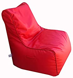 Bean Chair XXL (Cover Only) Art Leather Red (Front Height-15, Front width-24.5, Back Height-34, Depth-17 )