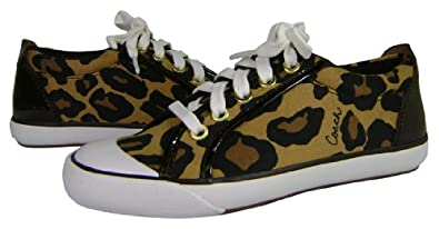 Coach Signature Barrett Brown Ocelot Print Sneakers