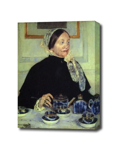 Cassatt Mary Lady At The Tea Table 1883 Canvas Art Print, Ready To Hang 12 X 16