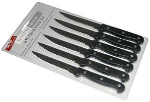 Sterling Home 8513 Elite Collection 6 Piece Steak Knife Set