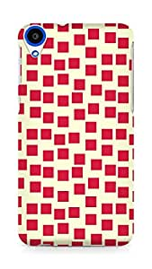 Amez designer printed 3d premium high quality back case cover for HTC Desire 820 (Red Pattern1)