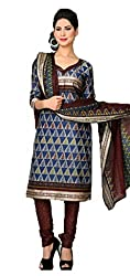 Vivacity Women's Cotton Unstitched Dress Material (GB-07_Multi_Free Size)