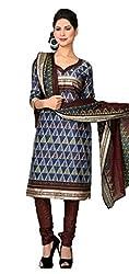 Vivacity Women's Cotton Unstitched Dress Material (GB-07_Multi_Free Size)