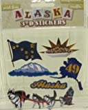 4149cCKWgdL. SL160  Alaska Scrapbooking Craft Stickers 3 d Husky Dog Sled Team Flag