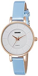 Skmei Analog White Dial Womens Watch - 1178BLW