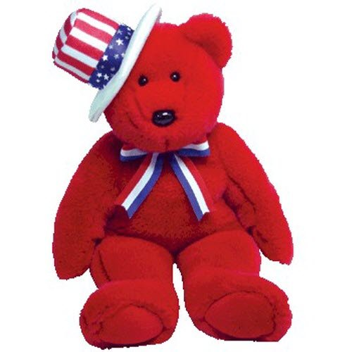 Ty Beanie Buddies Sam - Bear Red