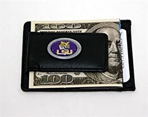Buy LSU Tigers Leather Money Clip Wallet by Siskiyou