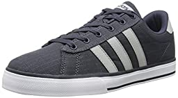 adidas NEO Men\'s SE Daily Vulc Lifestyle Skateboarding Shoe,Navy/Clear Onix Grey/White,13 M US