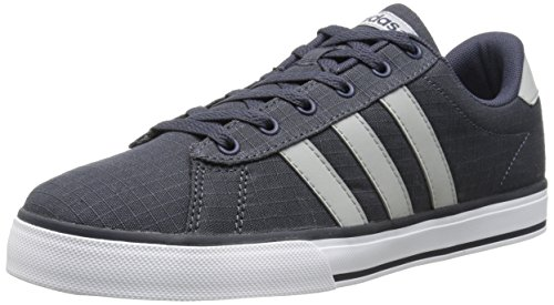 Adidas NEO Men's SE Daily Vulc Lifestyle Skateboarding Shoe,Navy/Clear Onix Grey/White,10 M US