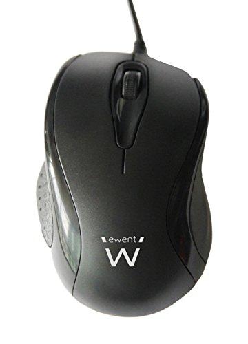 Ewent Mouse Ottico USB, 1000 Dpi, Cavo 145 Cm, Nero