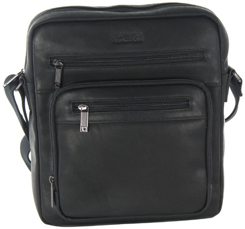 Kenneth Cole Reaction Any Other Day Colombian Top Zip Bag Ipad Tablet Case, Black, One Size