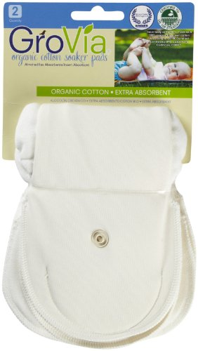 GroVia Certified Organic Cotton Soaker Pad 2 Pack