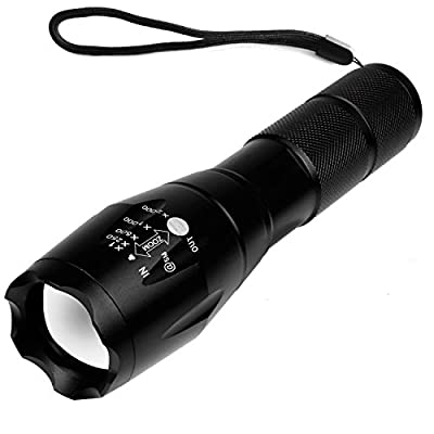 Airsspu 900 Lumens LED Flashlight,Rechargeable Flashlight,Zoomable and Waterproof LED Outdoor Handheld Flashlight,Adjustable Focus and 5 Light Modes for Camping Hiking etc