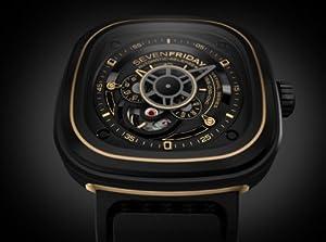 SevenFriday P2-2 Industrial Revolution Black and Gold