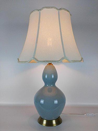 BBSLT-vert pois de style chinois gourd crack Lampes en céramique chinoise des lampes de table en céramique moniteur de chevet Salon Chambre lampe de table en céramique