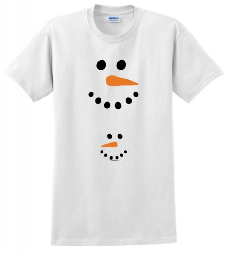 Pregnant Snowman Belly Maternity Themed T-Shirt Xl White front-890904