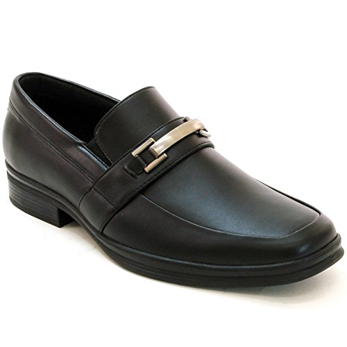 Alpine Swiss Mens Olten Buckle Loafers Suede Lined Slip On Shoes Black 8 M US