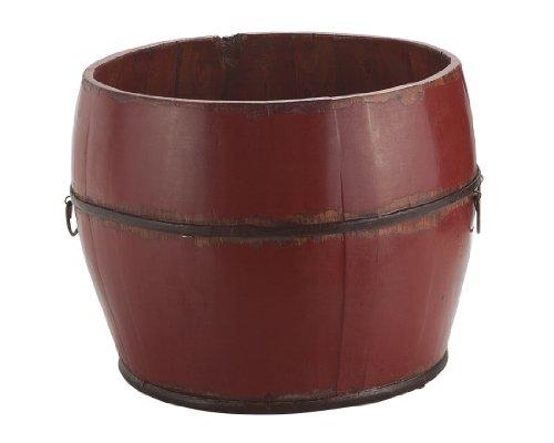 Antique Revival Vintage Benton Bucket, Red 0