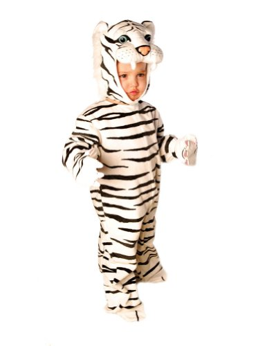 White Plush Tiger Toddler Costume 2T-4T - Toddler Halloween Costume - Underwraps