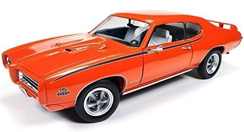 1969-pontiac-gto-judge-orange-limited-edition-to-1002pc-1-18-by-autoworld-amm1058-by-pontiac