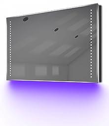 Shaver Bathroom Mirror with UnderLighting, Bluetooth, Demist & Sensor k61sUaud