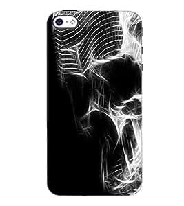 PrintDhaba Digital Skull D-2119 Back Case Cover for APPLE IPHONE 5S (Multi-Coloured)