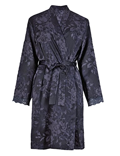 ladies-womens-marks-and-spencer-ms-lace-trim-purple-satin-dressing-gown-robe-size-16-18