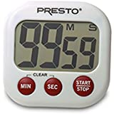 Presto 04214 Electronic Big Digital Timer, White
