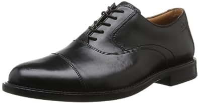 Clarks Dorset Boss, Herren Derby Schnürhalbschuhe, Schwarz (Black Leather), 39.5 EU (6 Herren UK)