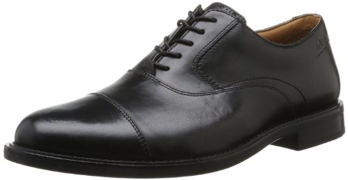 Clarks  Dorset Boss,  Scarpe stringate uomo, Nero (Schwarz (Black Leather)), 43