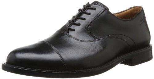 Clarks  Dorset Boss,  Scarpe stringate uomo, Nero (Schwarz (Black Leather)), 44.5