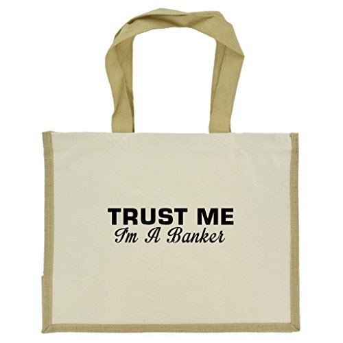 trust-me-im-a-banker-in-black-print-jute-large-shopping-bag-with-beige-handles-and-trim