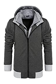 Coofandy Men's Fashion Thicken Hoodie…