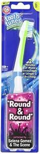 Selena Gomez Arm & Hammer Spinbrush, Tooth Tunes, Round & Round, Soft 1 toothbrush