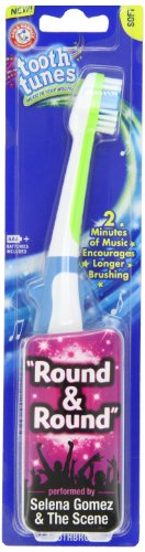 Selena Gomez Arm & Hammer Spinbrush, Tooth Tunes, Round & Round, Soft 1 Toothbrush back-836910