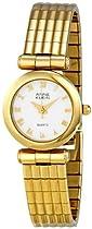 Annie Klein White Dial Gold-tone Bracelet Ladies Watch AK118172