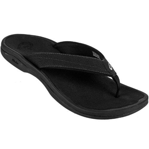 Olukai Ohana Womens Sandals In Black/Black Sz:8 front-972521