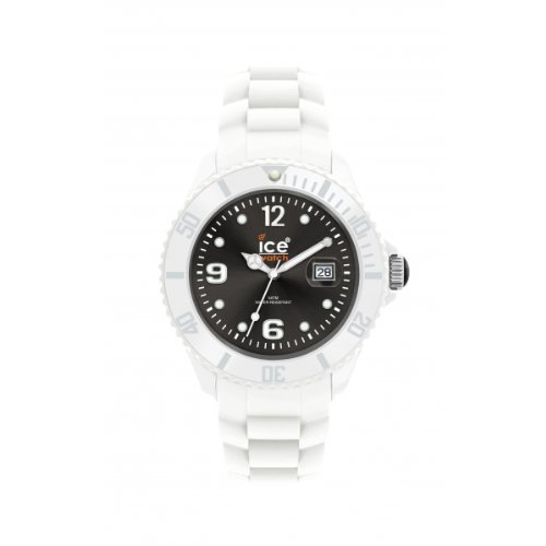 Ice-Watch Ice-White Black Dial Big Silicone Watch SI.WK.B.S